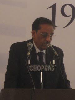 Basant Mehta, Chairman, GJEPC addressing Gems and Jewelry show, Jaipur 2009