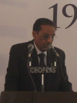 Mr. Basant Mehta, Chairman, Gem and Jewelry Export Promotion Council, India  speaking at JJS 2009. He is a renowned jeweler belongs to Jain community.