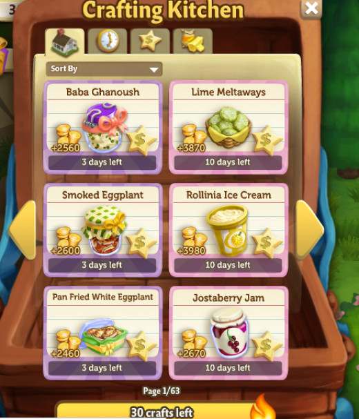 Cooking recipes in Farmville 2 is a great way to get experience and get coins.
