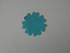 Blue heavy-weight cardstock for large daisy