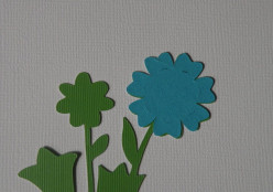 Adhere Blue large daisy