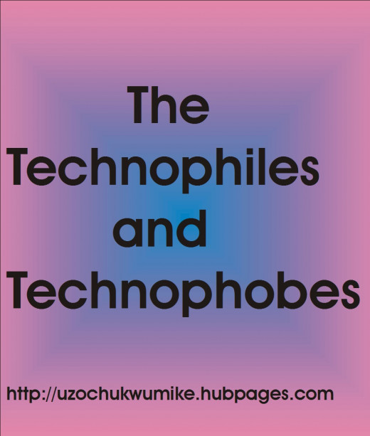 An illustration on the topic: technophiles and the technophobes. Who the technophiles  and the technophobes are.