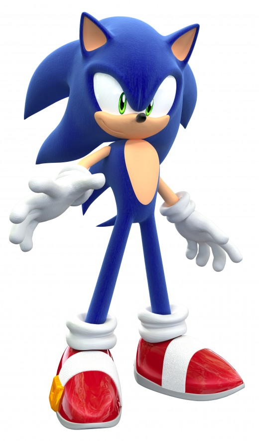 This is Sonic's modern look in video games today.