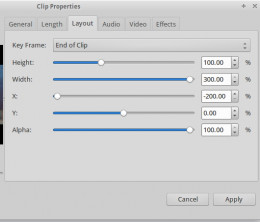 End of Clip settings