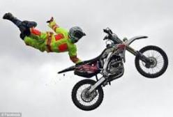 Dangerous motorcycle tricks