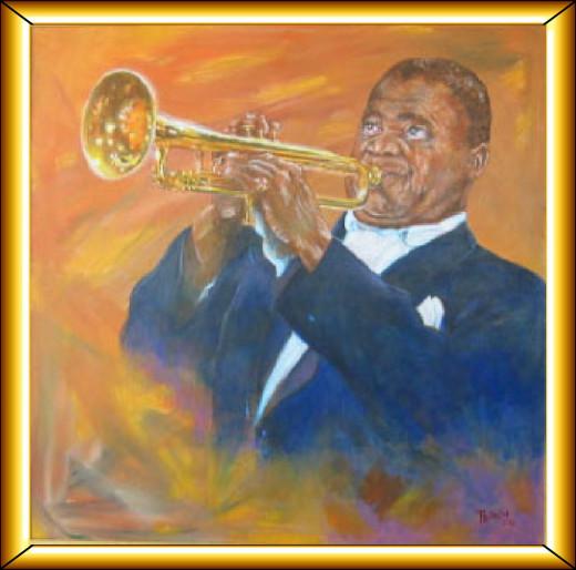 Satchmo. Acrylic on Canvas.