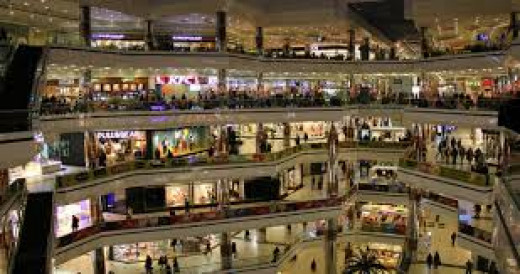The crowded Shopping Malls