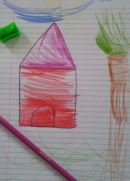 Four-year-olds image of a puppy house