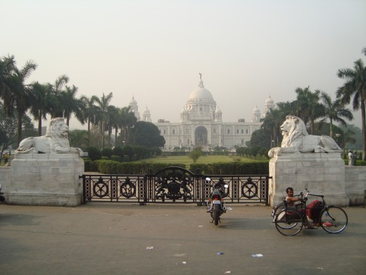 Victoria Memorial in Calcutta
