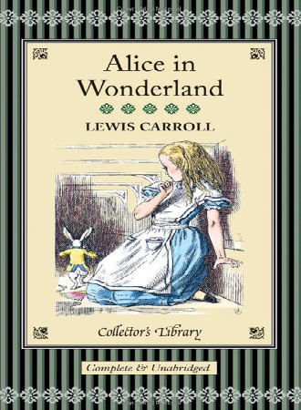 Book cover for Alice in Wonderland.