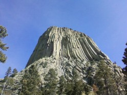 "Devil's Tower (You'll remember this sight from the movie ""Close Encounters of the 3rd Kind"")"