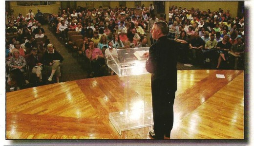 Preaching is one form of external testimony, designed to keep the congregation in line and convert new souls to Christ.