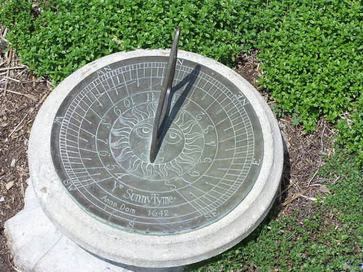 Sundials are pretty, but I can't tell time with them. I don't have the knack.