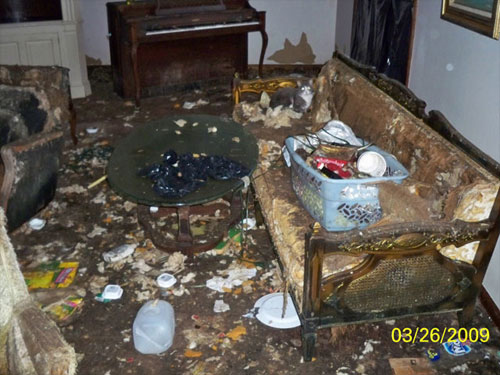 Your Dorm Room at the End of Semester.
