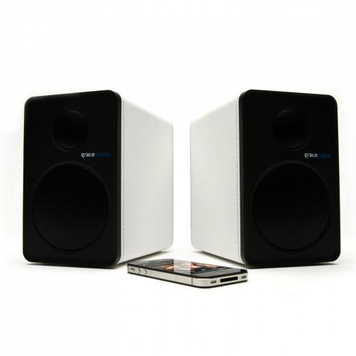 Grace Digital GDI-BTSP208 aptX Powered Bookshelf Bluetooth Speakers