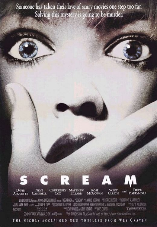"Neve Campbell and Courtney Cox in ""Scream"""