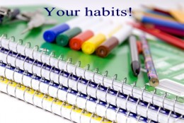 "Are you forming good habits or bad habits?  This is the ""you"" part of the business."