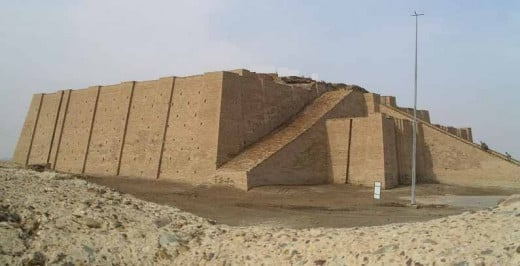 Ziggurats were is various levels from two teers to seven.