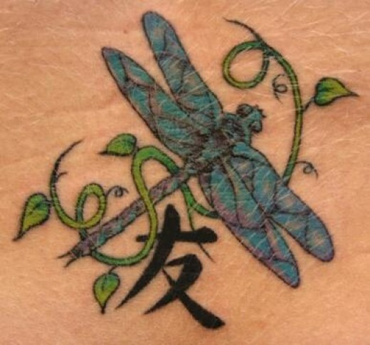 These dragonfly tattoos can be as unique as a person wants.