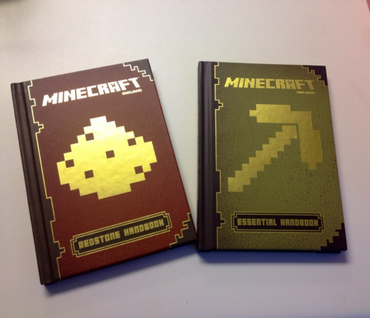 Minecraft handbooks available at many bookstores