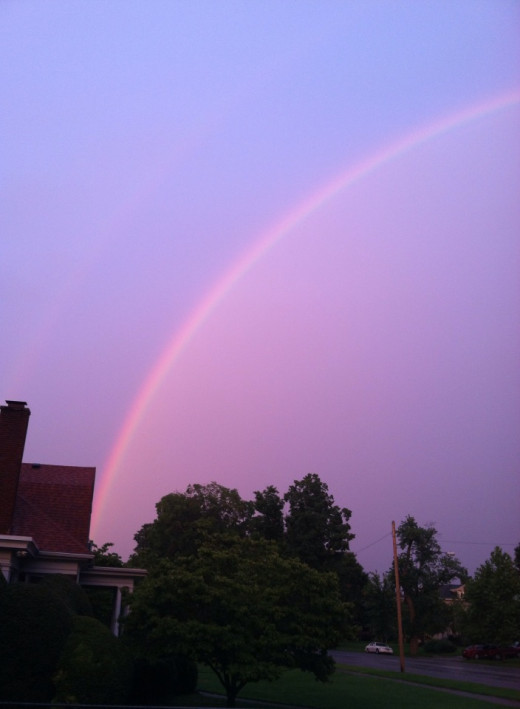 Rainbow over Huntington, hope is alive!