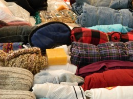 Flannel shirts, woolen socks,flannel lined jeans, gloves, lemon soap to repel mosquito,food and sleeping mask.