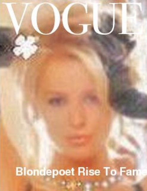 Me on the cover of Vogue can you believe it ?