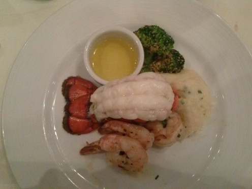 Lobster is a staple on elegant nights while on a cruise.