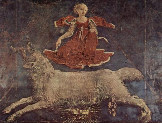 1. Aries, Palazzo Schifanoia
