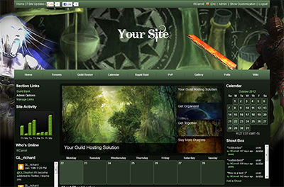 Guildlaunch, Enjin and iClan Websites are 3 of the most popular sites to host your guild site.