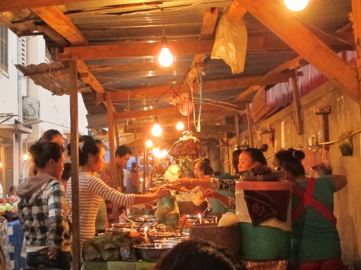 Night market Luang Prabang.