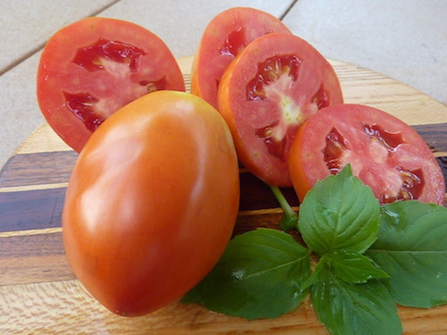 Sliced ¼ inch thick and be consistent so tomatoes dry at the same time.