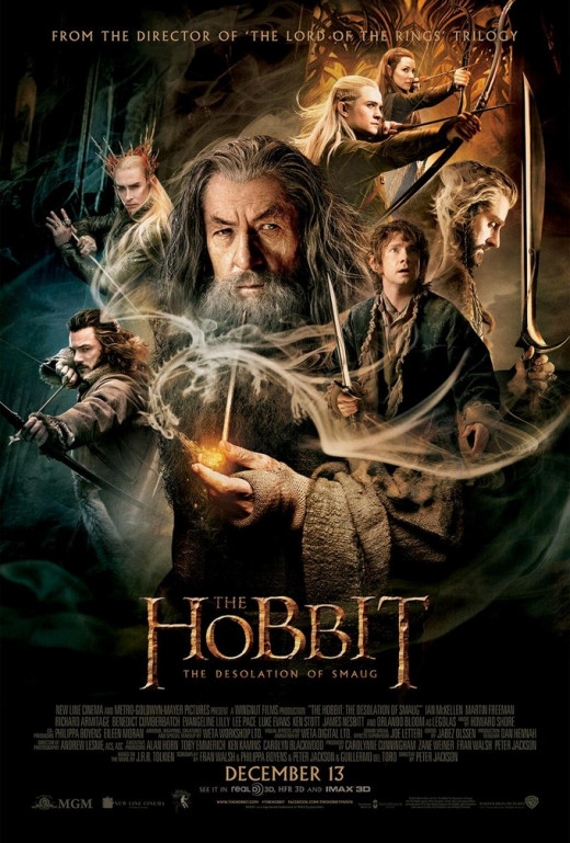"Martin Freeman and Ian McKellen in ""The Hobbit: The Desolation of Smaug"""