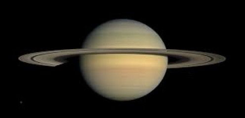 Planet Saturn during Equinox as shown by up lose imaging.