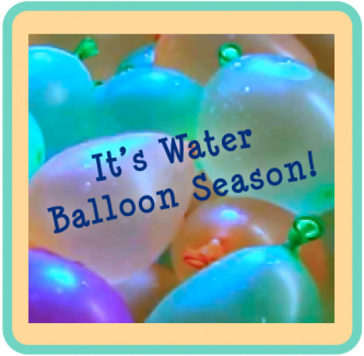 Pastel colored water balloons contradict their potential.
