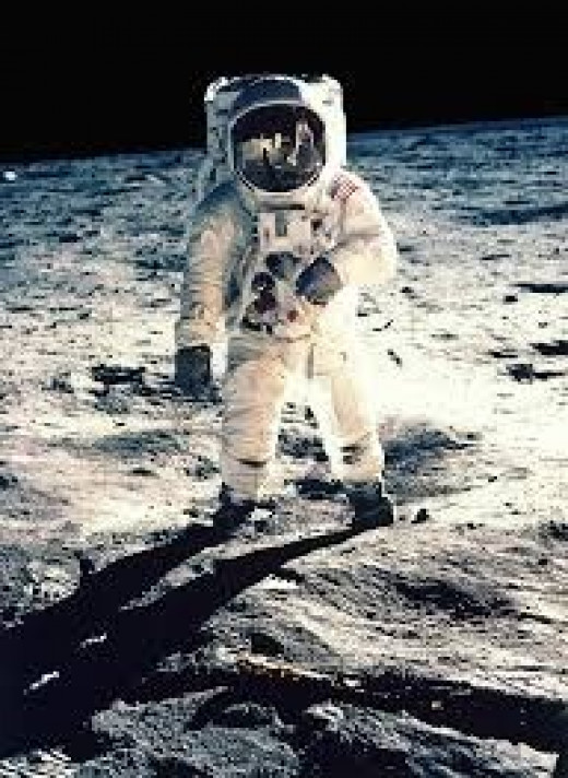 Buzz Aldrin poses for a photo after setting foot on the Moon.