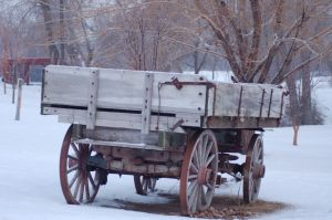 A wagon used in winter
