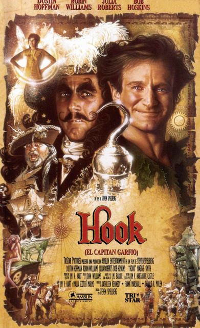 Hook, starring Robin Williams as Peter Pan