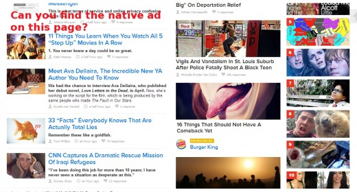 Bombarded with visual images, we are less likely to notice native advertising cues.