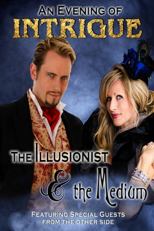 The man is the illusionist and the woman is the medium. Get ready for horror and fun mixed together in this fun and odd show.