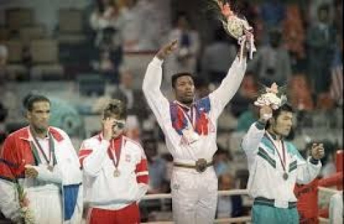 Ray Mercer won a gold medal in the 1988 Olympic Games and then he won the WBO Heavyweight championship as a professional.
