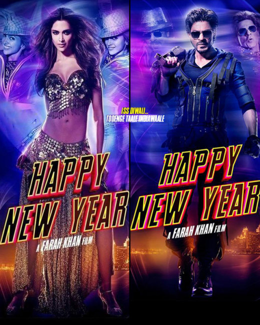 Check out the new posters of Happy New Year starring Shah Rukh Khan, Deepika Padukone, Abhishek Bachchan, Boman Irani, Sonu Sood and Vivaan Shah. The movie is directed by Farah Khan and ready to hit theaters on Diwali.