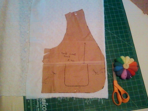 My layout for the front of the vest.