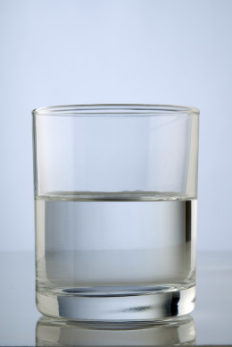 Use a Glass Cup for the Water Test