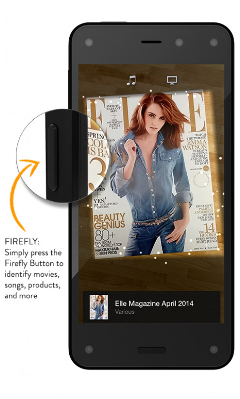 The Amazon Fire Phone features Firefly, which lets you identify the products in the screen, see information about those products and then take action around those products.