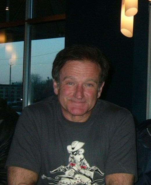 Robin Williams--almost always smiling!