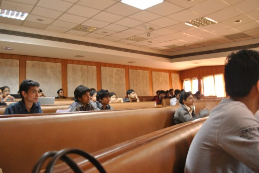 Indian Institute of Technology, IITs are the most renowned institutes worldwide. Scene of a workshop in IIT, Delhi.