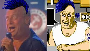 It's easy to see why the creators of Skate or Die chose Rodney Dangerfield as their mascot. The late comedian sported a mohawk while they were still new and fresh. Plus, the guys at EA were smoking loads of drugs direct from China.