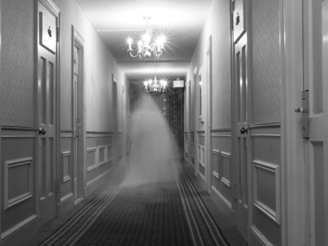 Ghost in the hallway of the Hawthorne Hotel