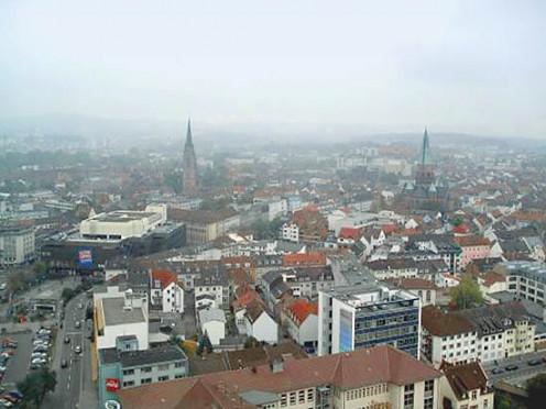 http://Kaiserslautern town big 2 by Robert Merkel; reworked by ArtMechanic - File:Kaiserslautern town big.jpg. Licensed under Public domain via Wikimedia Commons